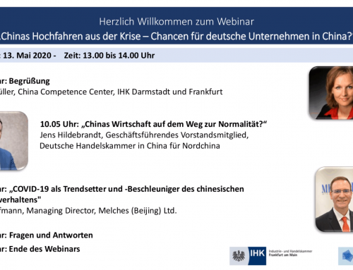 Webinar Record: China's emergence from the crisis – an opportunity for German companies